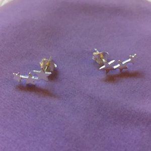 🌟 Star Ear Crawlers Earrings .925 Sterling Silver